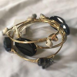 NWT Gold and Black Stone Bracelets